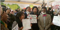 Attendees at COP 21 in Paris on December 10, 2015  Photo: Via Robert D. Bullard's Twitter feed (@DrBobBullard)